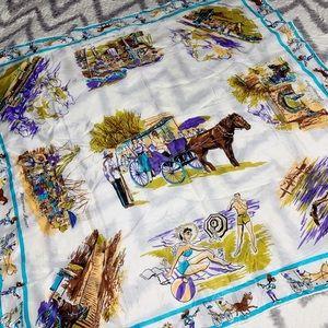 Gorgeous, VINTAGE, Nassau, tourist scarf!!